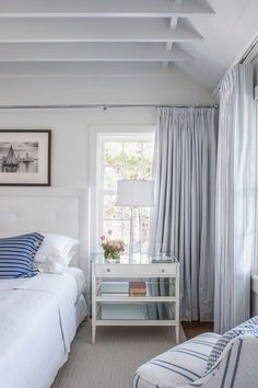 Curtis Windham - Architect - Houston - Beach - Coastal - Bedroom - Fresh - Crisp - White - Blue - Breezy - Calm
