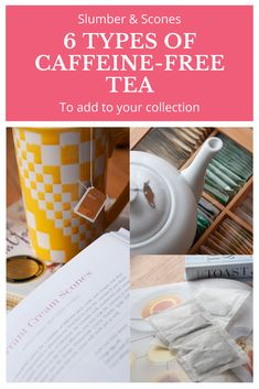 A breakdown of the six different types of decaffeinated and naturally caffeine-free tea bags you should have in your collection, these are perfect for evenings, guests, and when you're not feeling well. Redbush Tea, Irish Coffee, Coffee Coffee, Decaf Tea, Natural Remedies For Insomnia, Caffeine Free Tea, Feeling Well, Tea Party Bridal Shower, Peppermint Tea