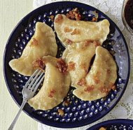 Potato-Cheese Pierogi (Pierogi Ruskie). Fine Cooking. Always love their variations on traditional favorites.