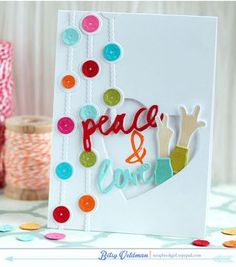 Peace & Love Card by Betsy Veldman for Papertrey Ink (December 2014)