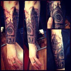 catedral de notre dame tattoo - Pesquisa Google