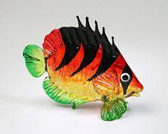 Aquarium Handicraft MINIATURE HAND BLOWN GLASS Fish FIGURINE Collection # 66 #ZOOCRAFT
