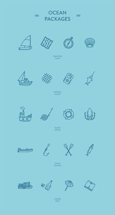 Ocean Packages - Free Icon Set