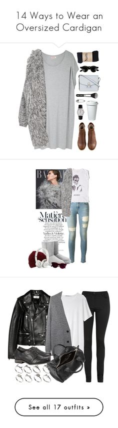 """""""14 Ways to Wear an Oversized Cardigan"""" by polyvore-editorial ❤ liked on Polyvore featuring oversizedcardigan, waystowear, Organic by John Patrick, A.P.C., American Apparel, Victoria Beckham, Other, rag & bone, UGG Australia and Oliver Spencer"""