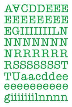 "Alphabet Sticker ""Maria"" – grün (Ergänzung)"