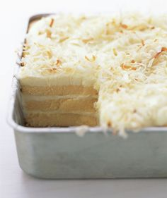 Toasted-Coconut Refrigerator Cake - really easy to put together, but with nearly anything but coconut...ew...