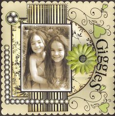 Scrapbook Layout ~ 1 Photo girls black and white Crate Paper Heritage Scrapbook Pages, Kids Scrapbook, Vintage Scrapbook, Scrapbook Paper Crafts, Scrapbook Cards, Wedding Scrapbook, Scrapbooking Ideas, Scrapbook Sketches, Scrapbook Page Layouts