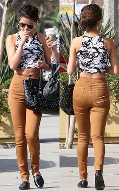 Selena Gomez Fashion - Crop top