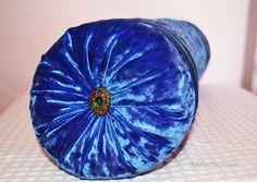 "Ocean Blue Bolster. Silk + Crushed Velvet. Blue Silk Pillow. Blue Velvet Pillow. Decorative Pillow. 7 x 23"" Handmade #Home #DecorativePillows #ThrowPillows #AccentPillows #Homedecor #Housewares #Pillowcovers #Design #Homedesign #Art #FunctionalArt #FamilyRoom #DesignerPillows #BedPillow #CouchPillow #BeautifulHome #PillowCover #BluePillow #NauticalPillow #Beachpillow #SeasidePillow"