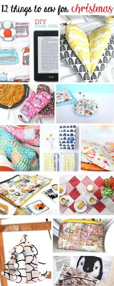 12 things to sew for christmas | DIY & crafts | christmas ideas to make | sewing gifts for friends and family | Tutorial | xmas project | gift ideas | waseigenes.com