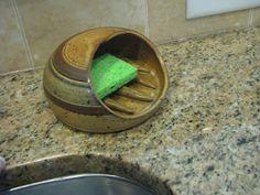 sponge holder pottery