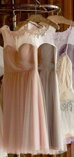 Pretty tulle dresses #bridesmaiddress http://www.theperfectpaletteshop.com/#!bridesmaid-dresses/c1oc8