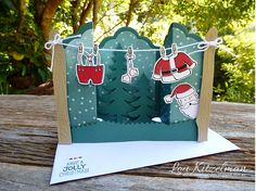 AddINKtive Designs Team, Sanat's Suit, Stampin' Up!, Bridge Fold Card, With a bow on top
