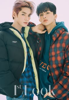 NCT 127 members Taeyong and Mark, currently gearing up for their debut in the joint super group SuperM, posed for the upcoming issue of Look' m… Nct Taeyong, Mark Lee, Jaehyun, Kpop, Nct 127 Members, Nct 127 Mark, Natural Models, Look Magazine, Nct Life