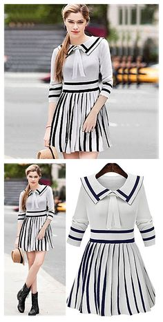 Lovely work outfit in color black and white.