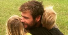 Chris Hemsworth Hugging His Twin Sons Is Too Adorable For Words