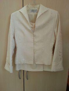 Rene Anzug Farbe Creme ,Gr 38