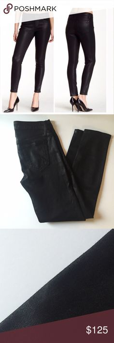 "Joe's jeans wax coated ""the skinny ankle"" Amazing jeans!   Great condition.  One small lighter spot as shown on side seam (unnoticeable). Fits TTS.  27"" inseam, 8.5"" rise, 14.5"" waist.   No trades. Reasonable offers welcome Note: 20% off bundles of 2+ items in my closet! Joe's Jeans Jeans"