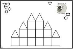 * Mozaïek: Op gekleurd papier afdrukken  mozaïek erop laten leggen of laten op- na-plakken, sterren laten kleuren. 2-9