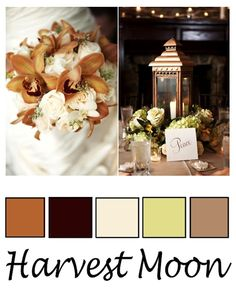 The best Fall wedding colors ever.