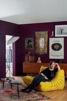 Espaços inspirados por artistas (Foto: Debby Gram) Amei combinação de cores!