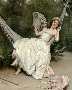The Athenaeum - Girl in the Hammock (Raimundo de Madrazo y Garreta - No dates listed)