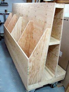 Sheet Goods & Cutoffs Rack / Rangement pour panneaux et retailles « Atelier du Bricoleur (menuiserie)…..…… Woodworking Hobbyist's Workshop