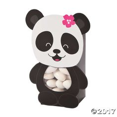 Panda Party Treat Boxes Party Supplies Canada - Open A Party Panda Party Favors, Panda Birthday Party, Bear Birthday, Birthday Ideas, Birthday Parties, Valentine Day Boxes, Bear Valentines, Panda Baby Showers, Panda Decorations