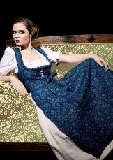 Blaudruck-Dirndl (Resi Hammerer) Chinoiserie, Folk Fashion, Full Skirts, Ruffle Top, Indigo, Bodice, Most Beautiful, Textiles, Costumes