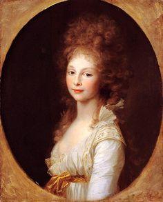 Frederica of Mecklenburg-Strelitz, Duchess of Cumberland, later Queen of Hanover - Johann Friedrich August Tischbein, 1796.
