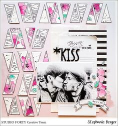 *Kiss.... {Scrapbooking, StudioForty, verspätete Sonntagsbilder....}