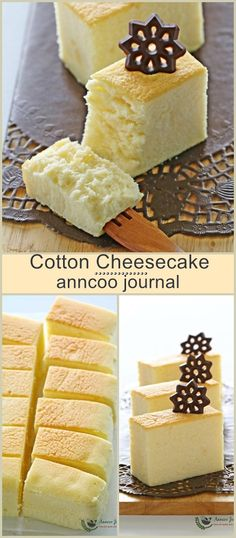 This pillowy cotton cheesecake is a very light fragrant cake that just melts in the mouth, and is always the first one to go on the table. Cheesecake Desserts, No Bake Desserts, Dessert Recipes, Chocolate Cheesecake, Health Desserts, Chocolate Recipes, Yummy Treats, Sweet Treats, Yummy Food