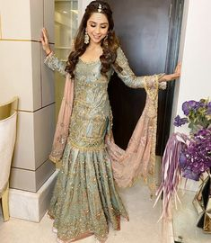 Bollywood Designer, Sonaakshi Raaj Got Married Where She Designed Her Bridal Outfits Pakistani Wedding Outfits, Pakistani Bridal Dresses, Bridal Outfits, Bridal Lehenga, Indian Dresses, Indian Outfits, Indian Bridesmaids, Bridesmaid Outfit, New Saree Blouse Designs