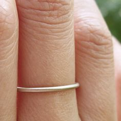 Simple Thin 14k White Gold Wedding Band in Choice by brightsmith