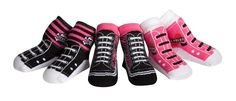 3 pairs to alternate between, Pink Sneaker with Love Rocks Heart on side, Sneaker with Pink Plaid, and Sneaker with Girly Skull http://pollywallydoodle.com/store/?slug=product_info.php&cPath=24&products_id=166