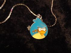 Blue Angry Bird Pendant and 16 Necklace by MaggieRozeCreation, $4.99