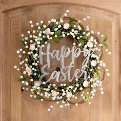 hoppy easter Add a pop of pastel to your door with our Floral and Metal Happy Easter Wreath. The galvanized metal lettering brings a touch of farmhouse flair to this piece of Easter decor Easter Crafts For Toddlers, Easter Activities, Easter Ideas, Hoppy Easter, Easter Eggs, Diy Osterschmuck, Easy Diy, Diy Easter Decorations, Easter Wreaths Diy