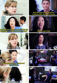 Grey's Anatomy. Beginning and end. Cristina and Meredith.