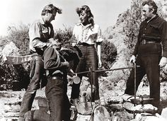 Elmo Williams' first directorial debut, The Tall Texan, starred (standing, from left) Lloyd Bridges, Marie Windsor and Lee J. Cobb.