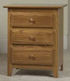 33% OFF Amish Furniture - Hand Crafted Shaker and Mission Furniture Online Outlet Store: English Shaker 3 Drawer Nightstand: Oak