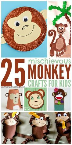 Monkey crafts for kids are perfect for any time of the year. They are great to bust summer boredom, and teachers can incorporate these activities in their