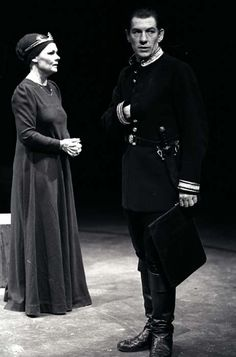 1978 - Judi Dench and Ian McKellen in Macbeth. RSC, Stratford-on-Avon.