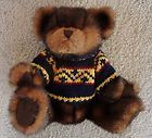"For Sale - 10"" SKM Brown Teddy Bear in Winter Sweater - Stuffed Animal Plush Toy"
