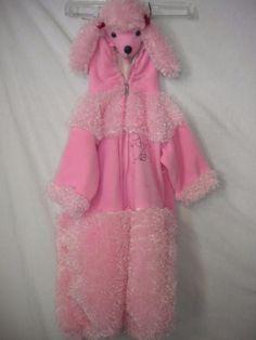 Walmart Toddler Size 2T Pink Plush One Piece Girls Pink Poodle Halloween Costume #Walmart #Costume