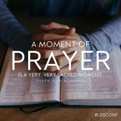 """At the very moment we say, 'Father in Heaven,' He hears our prayers and is sensitive to us and our needs. A moment of prayer is a very, very sacred moment."" From #ElderUceda's Oct. 2016 #LDSconf http://facebook.com/223271487682878 message http://lds.org/general-conference/2016/10/the-lord-jesus-christ-teaches-us-to-pray Learn more http://lds.org/topics/prayer and #PassItOn. #ShareGoodness"