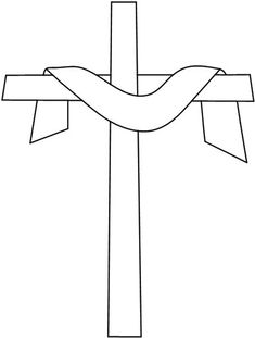 Easter Cross Stained Glass Pattern... great pattern for other crafts, too...