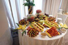 Masa de fructe, bar de fructe, fructe sculptate Bar, Table Decorations