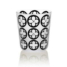 GOTIKA    Handmade Glass Blown Small Tumbler, Gotika-Black 1922, height: 85 mm   top diameter: 78 mm   volume: 220 ml   Bohemian Crystal   Crystal Glass   Luxurious Glass   Hand Engraved   Original Gift for Everyone   clarescoglass.
