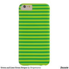 Green and Lime Green Stripes Barely There iPhone 6 Plus Case