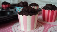 Csokis muffin zabpehelylisztből Gf Recipes, Diy And Crafts, Healthy Lifestyle, Muffins, Clean Eating, Pudding, Cupcakes, Sweets, Food